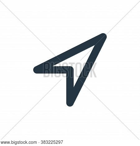 share arrow icon isolated on white background from user interface collection. share arrow icon trend