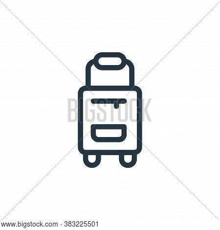 suitcase icon isolated on white background from old age collection. suitcase icon trendy and modern