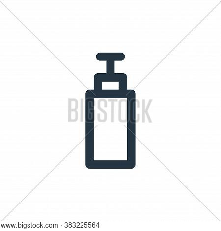 plastic bottle icon isolated on white background from fitness collection. plastic bottle icon trendy