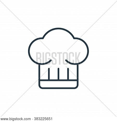 chef hat icon isolated on white background from kitchen collection. chef hat icon trendy and modern