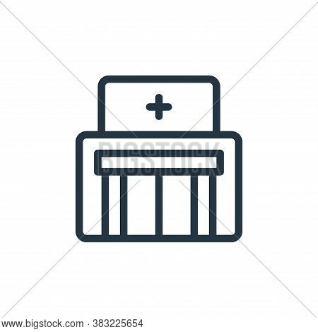 hospital icon isolated on white background from old age collection. hospital icon trendy and modern