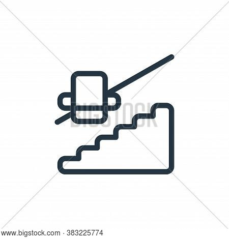 staircase icon isolated on white background from old age collection. staircase icon trendy and moder
