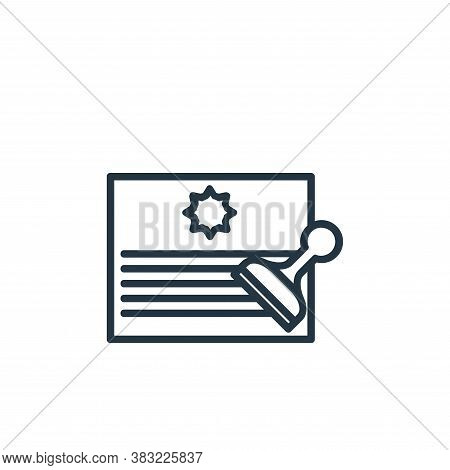stamp icon isolated on white background from finance collection. stamp icon trendy and modern stamp