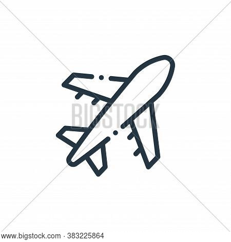 flight icon isolated on white background from travel and adventure collection. flight icon trendy an