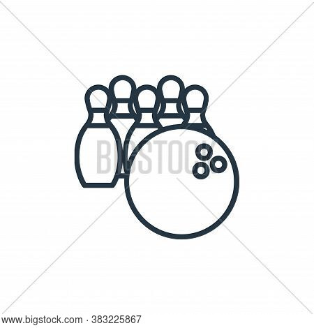 bowling icon isolated on white background from sport collection. bowling icon trendy and modern bowl