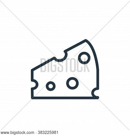 portion of cheese icon isolated on white background from food collection. portion of cheese icon tre