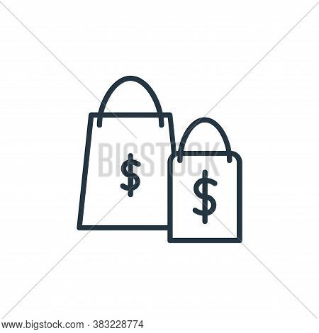 shopping bag icon isolated on white background from finance collection. shopping bag icon trendy and
