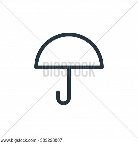 umbrella icon isolated on white background from shopping collection. umbrella icon trendy and modern