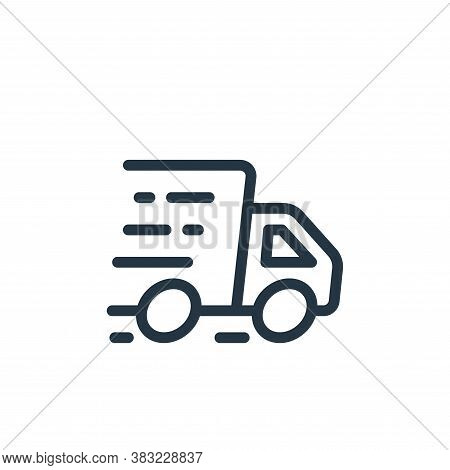 fast delivery icon isolated on white background from ecommerce shopping collection. fast delivery ic
