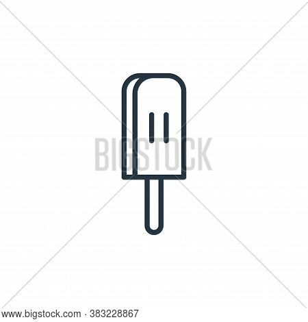 popsicle icon isolated on white background from food collection. popsicle icon trendy and modern pop
