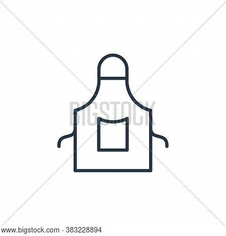apron icon isolated on white background from kitchen collection. apron icon trendy and modern apron