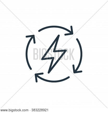 energy saving icon isolated on white background from ecology collection. energy saving icon trendy a