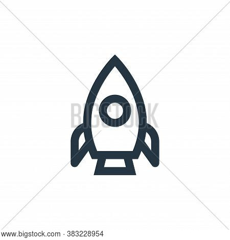 rocket icon isolated on white background from science collection. rocket icon trendy and modern rock
