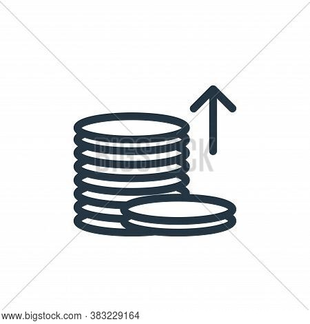 coins icon isolated on white background from shopping collection. coins icon trendy and modern coins