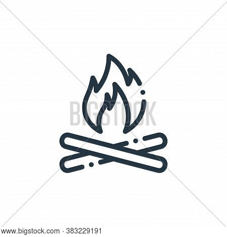bonfire icon isolated on white background from travel and adventure collection. bonfire icon trendy