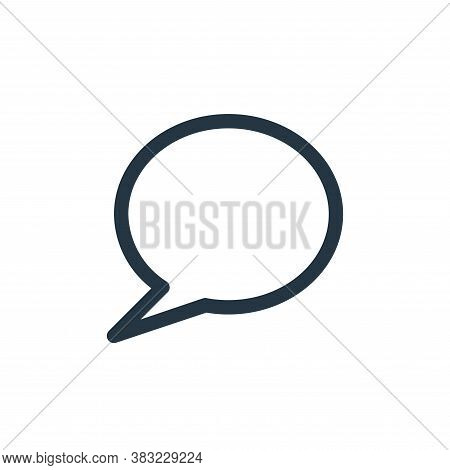 chat icon isolated on white background from smartphone ui ux part collection. chat icon trendy and m