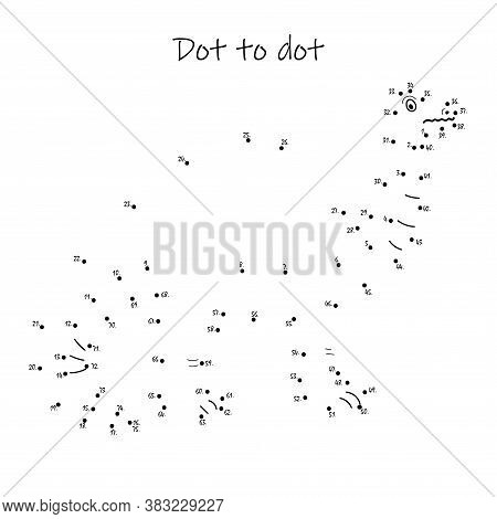 Connect The Dots To Reveal The Dinosaur In This Dot-to-dot Challenge For Kids. Printable Worksheet.