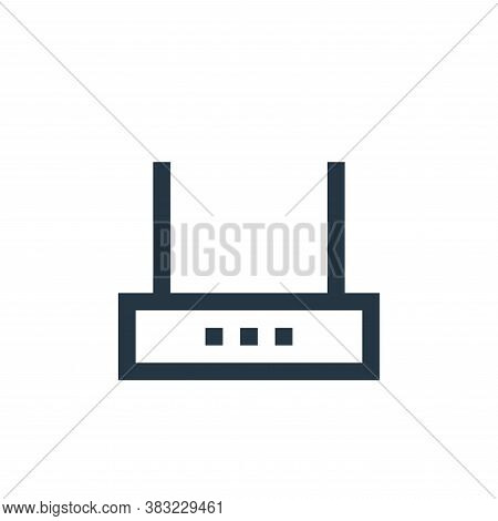 wifi router icon isolated on white background from network collection. wifi router icon trendy and m