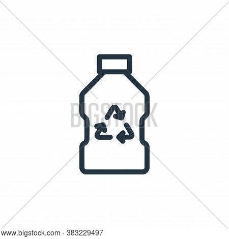 recycle bottle icon isolated on white background from ecology line collection. recycle bottle icon t