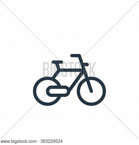bicycle icon isolated on white background from old age collection. bicycle icon trendy and modern bi