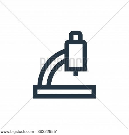 microscope icon isolated on white background from science collection. microscope icon trendy and mod