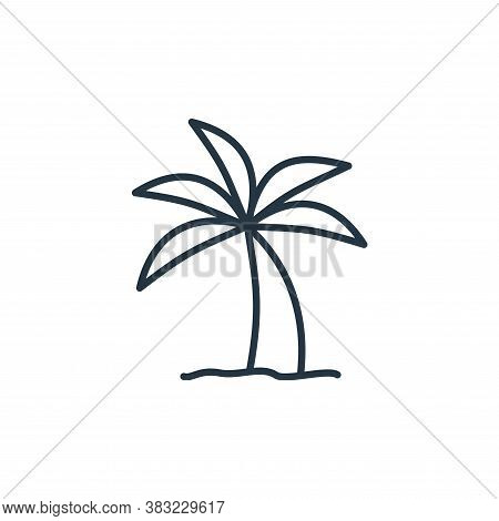 palm tree icon isolated on white background from travel collection. palm tree icon trendy and modern