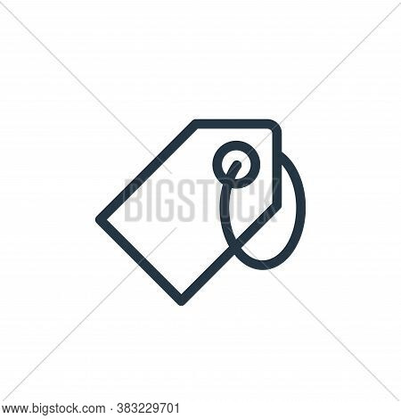 tag icon isolated on white background from ecommerce shopping collection. tag icon trendy and modern