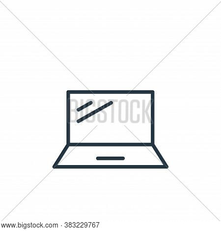 laptop icon isolated on white background from smart devices collection. laptop icon trendy and moder