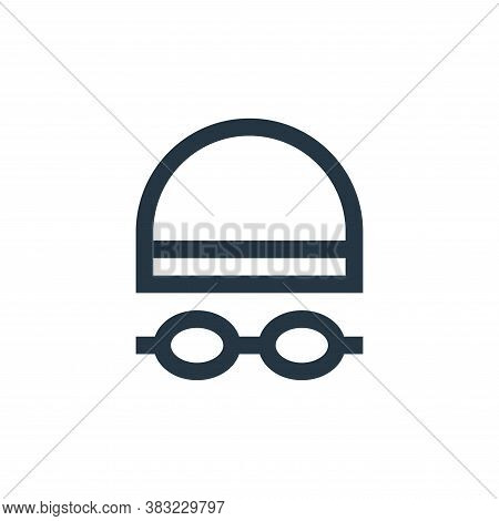 swimming glasses icon isolated on white background from sports collection. swimming glasses icon tre