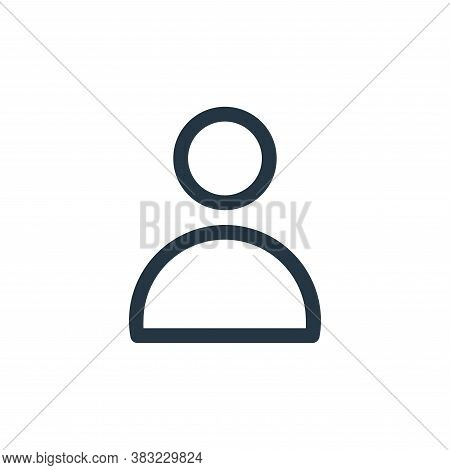 avatar icon isolated on white background from finance bank collection. avatar icon trendy and modern