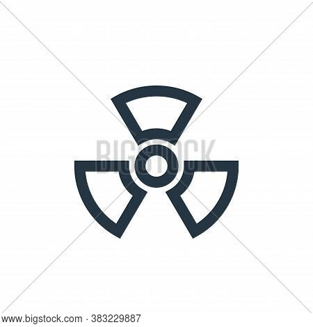 nuclear sign icon isolated on white background from industry collection. nuclear sign icon trendy an