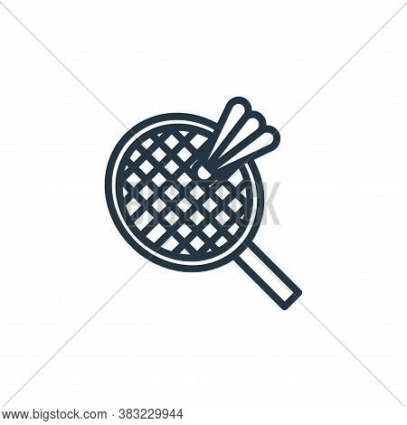 badminton icon isolated on white background from sport collection. badminton icon trendy and modern