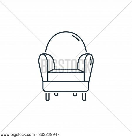 armchair icon isolated on white background from household collection. armchair icon trendy and moder