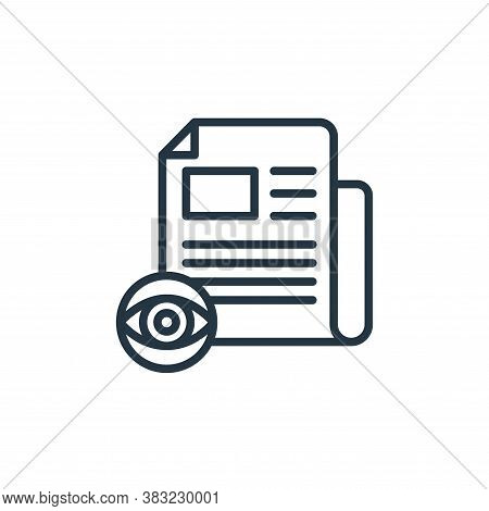 reading icon isolated on white background from news and journal collection. reading icon trendy and