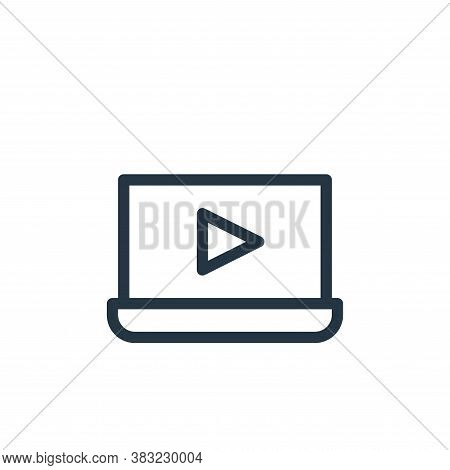 laptop icon isolated on white background from marketing and entertainment collection. laptop icon tr