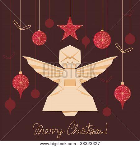 Origami Angel Background