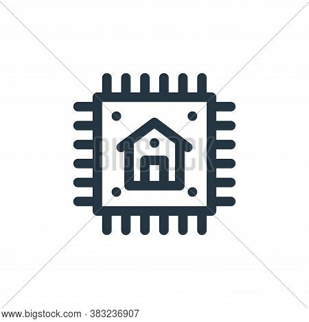 chip icon isolated on white background from smart home collection. chip icon trendy and modern chip