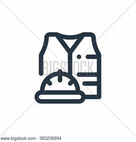 vest icon isolated on white background from labour day collection. vest icon trendy and modern vest