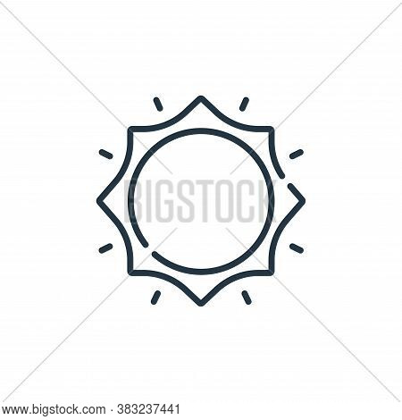sunny icon isolated on white background from spring collection. sunny icon trendy and modern sunny s
