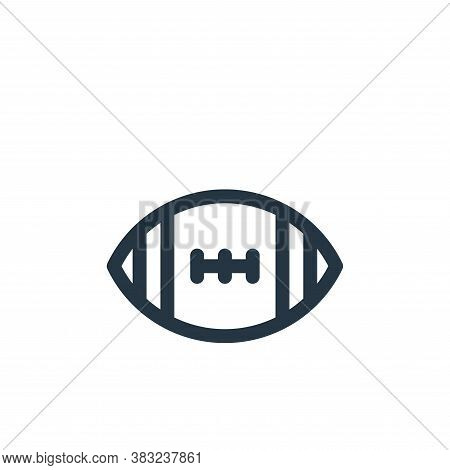 ball icon isolated on white background from american football collection. ball icon trendy and moder