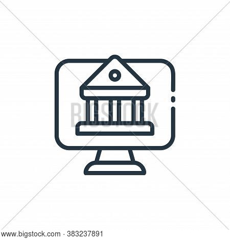 internet banking icon isolated on white background from finance collection. internet banking icon tr