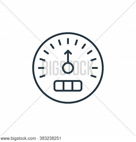 speedometer icon isolated on white background from racing collection. speedometer icon trendy and mo