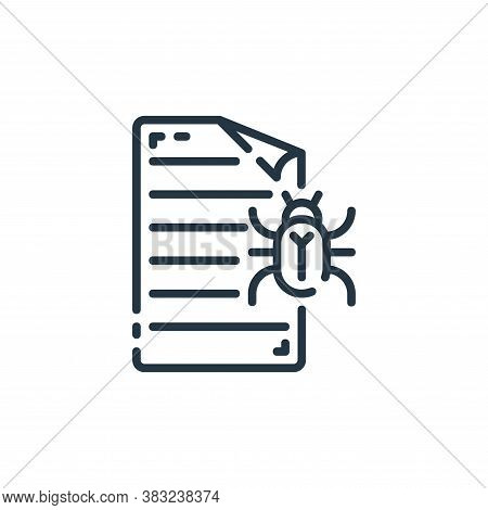 virus icon isolated on white background from documents collection. virus icon trendy and modern viru