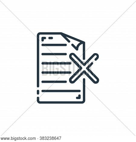 remove icon isolated on white background from documents collection. remove icon trendy and modern re