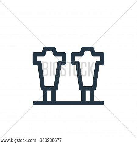 blocking icon isolated on white background from american football collection. blocking icon trendy a