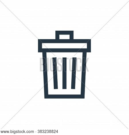 trash icon isolated on white background from graphic design collection. trash icon trendy and modern