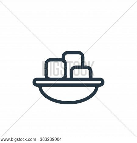 tofu icon isolated on white background from food and drinks collection. tofu icon trendy and modern
