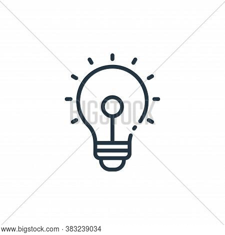 idea icon isolated on white background from finance collection. idea icon trendy and modern idea sym