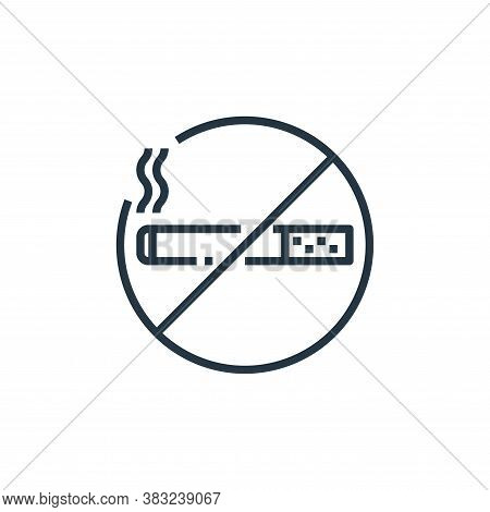 no smoking icon isolated on white background from hotel essentials collection. no smoking icon trend