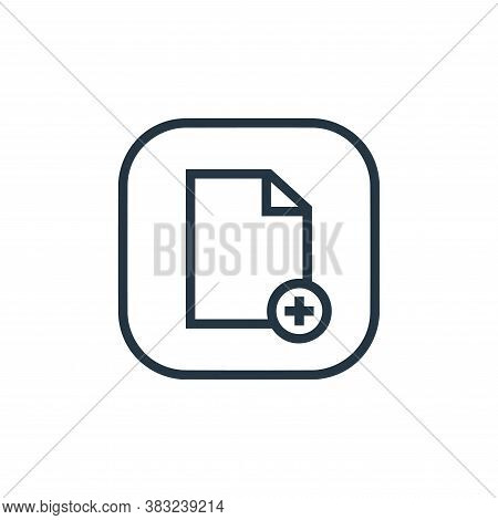 new file icon isolated on white background from files and folders collection. new file icon trendy a